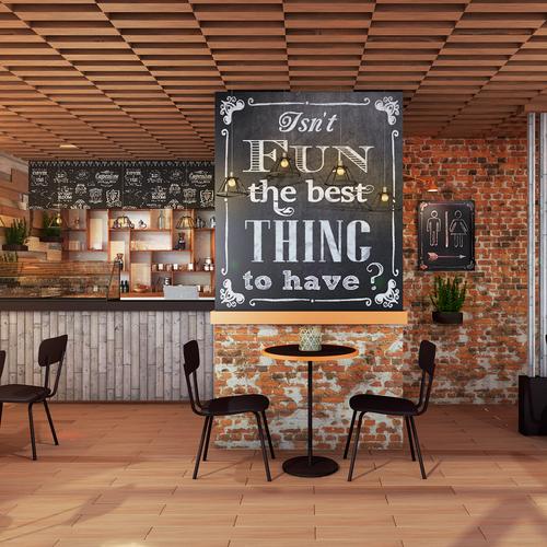 Interior design for cafe shop