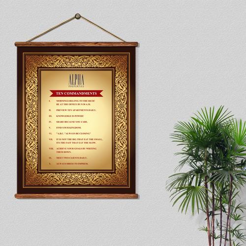 """POSTER - """"Alpha Properties 10 Commandments """""""