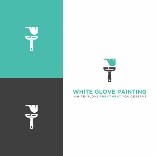 unique logo for highend residential painting company