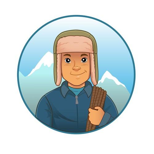 A character based on sherpa people of himalaya