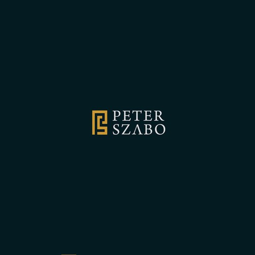 Monogram logo for peter szabo
