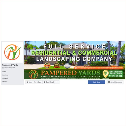 Lawn care company cover page design