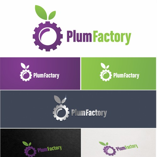 Create a fresh looking logo for Plum Factory