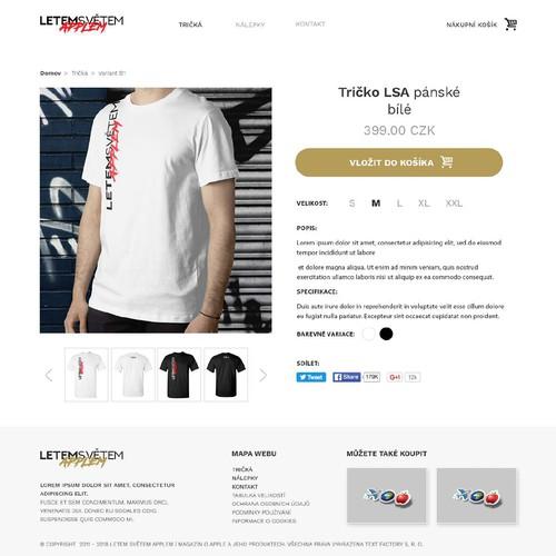 T-shirt ecommerce design