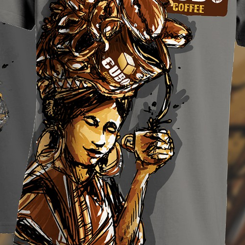 Create a T-Shirt for a Coffee Company, that is revolutionizing the industry!