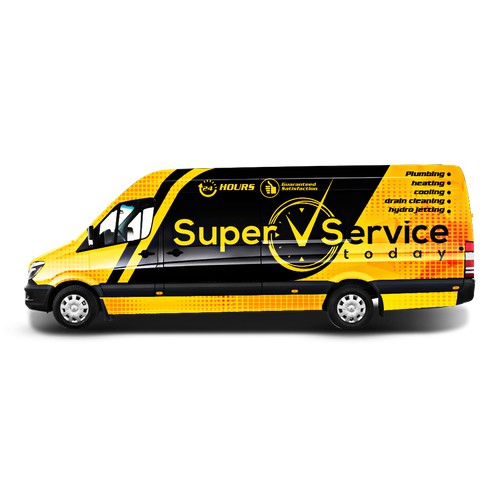 Super Service Today Van wrap design