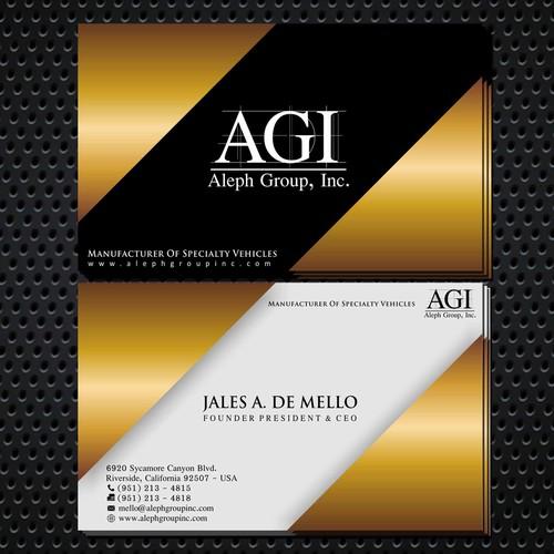 AGI 2015 Business Card