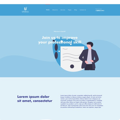 Modern landing page to promote career services platform