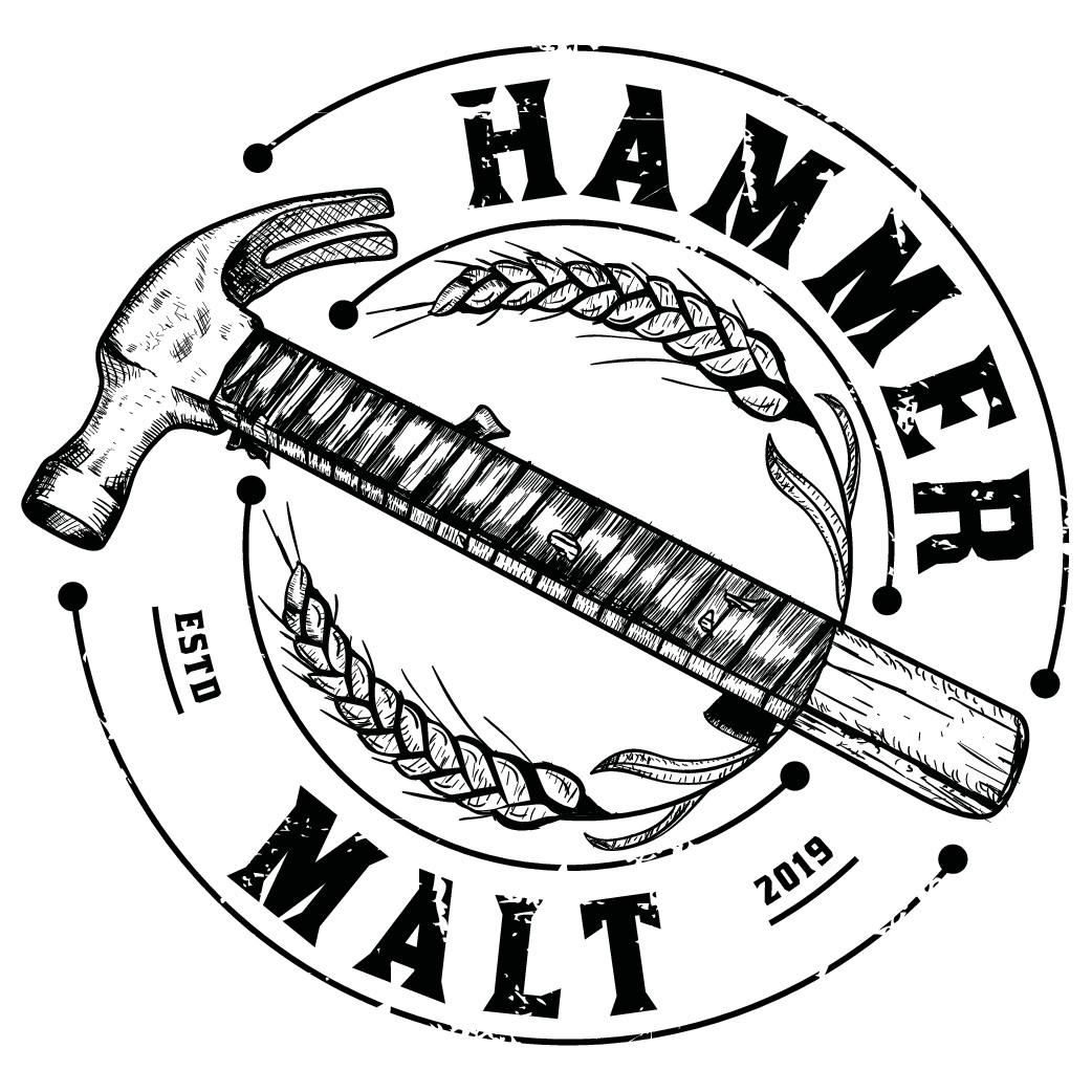 Design a unique claw hammer logo for Hammer Malt