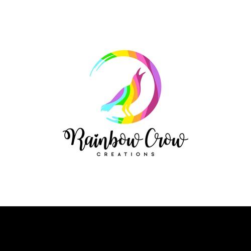 Rainbow Crow Logo Design