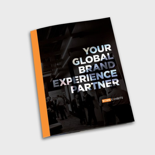 Modern bold brochure for exhibition displays professionals