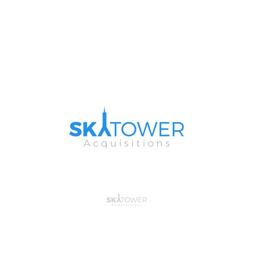 Minimal logo design for Sky Tower Acquisitions