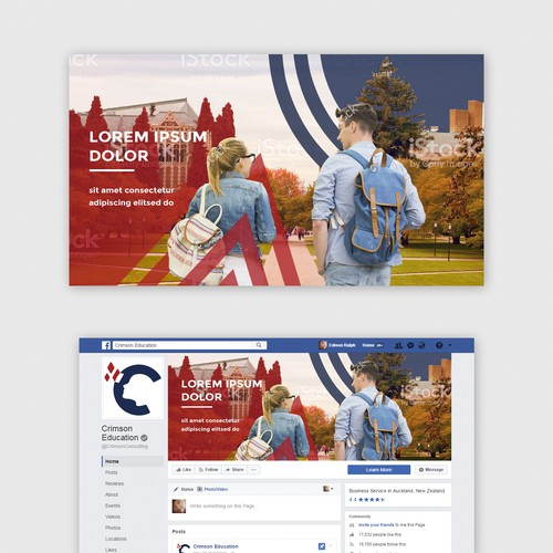 Facebook cover for an education consultation company