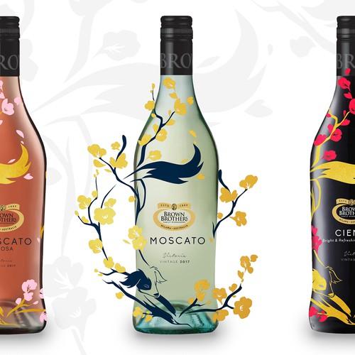 Wine Bottle Label Concept