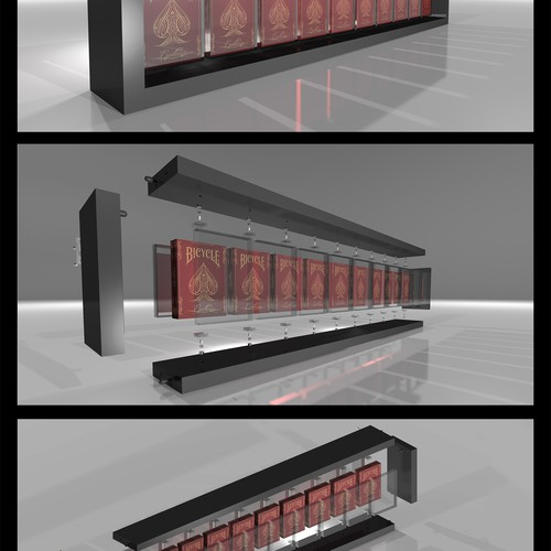 3D Model and renderings of playing cards rack