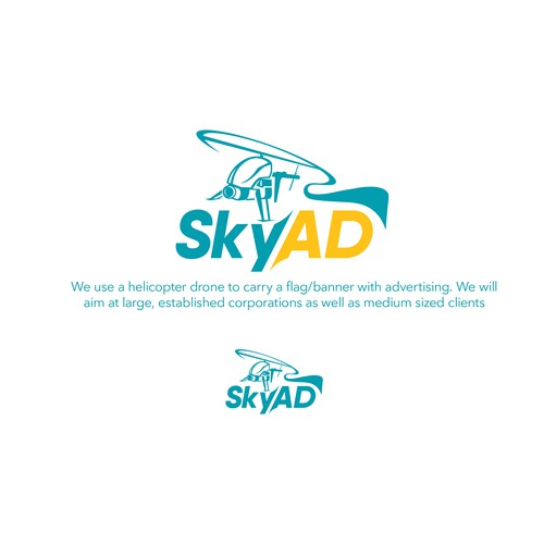 SkyAd Helicopter drone