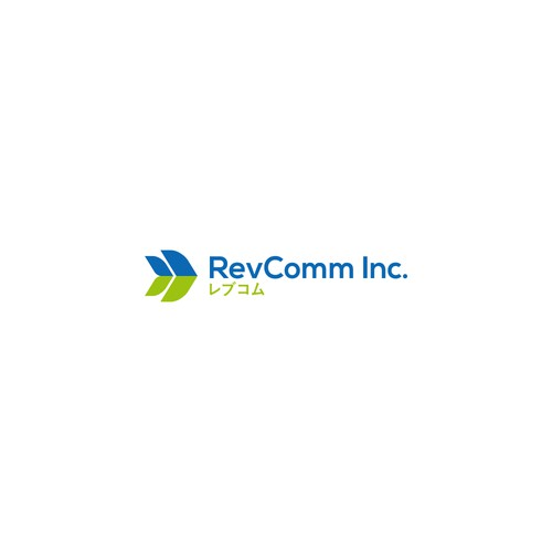 simple logo concept for revcomm