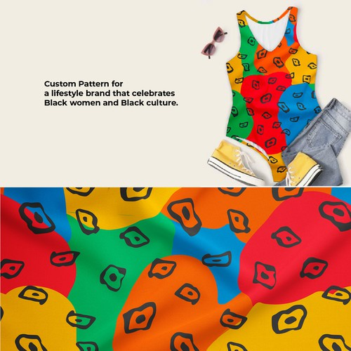 Bodysuit Pattern for women inspired by African culture