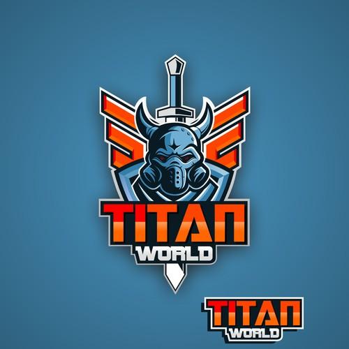 Create logo for video game 'TITAN WORLD'