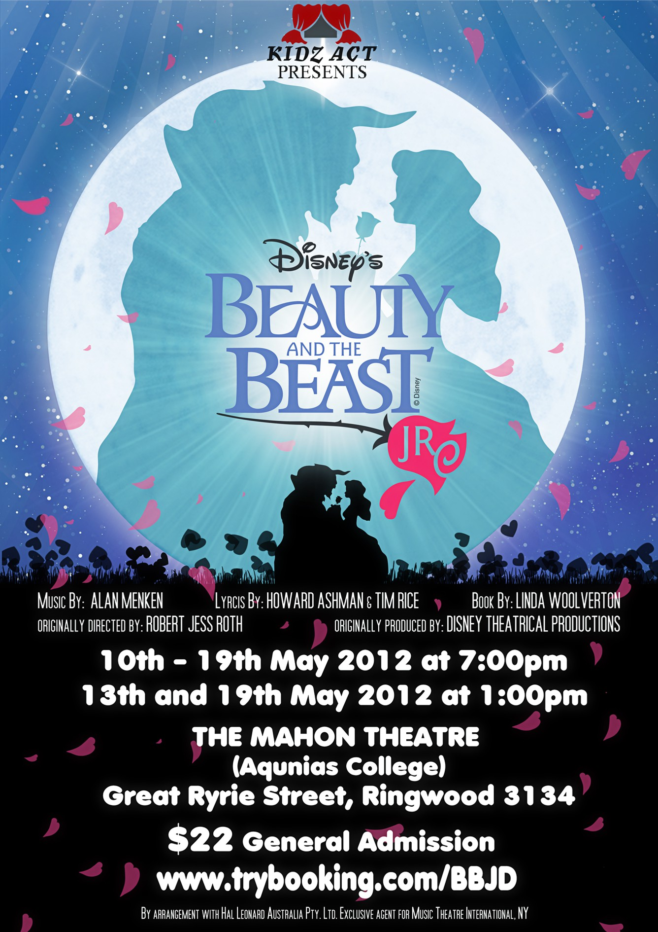 New print or packaging design wanted for BEAUTY AND THE BEAST JR. A4 Flyer Needed