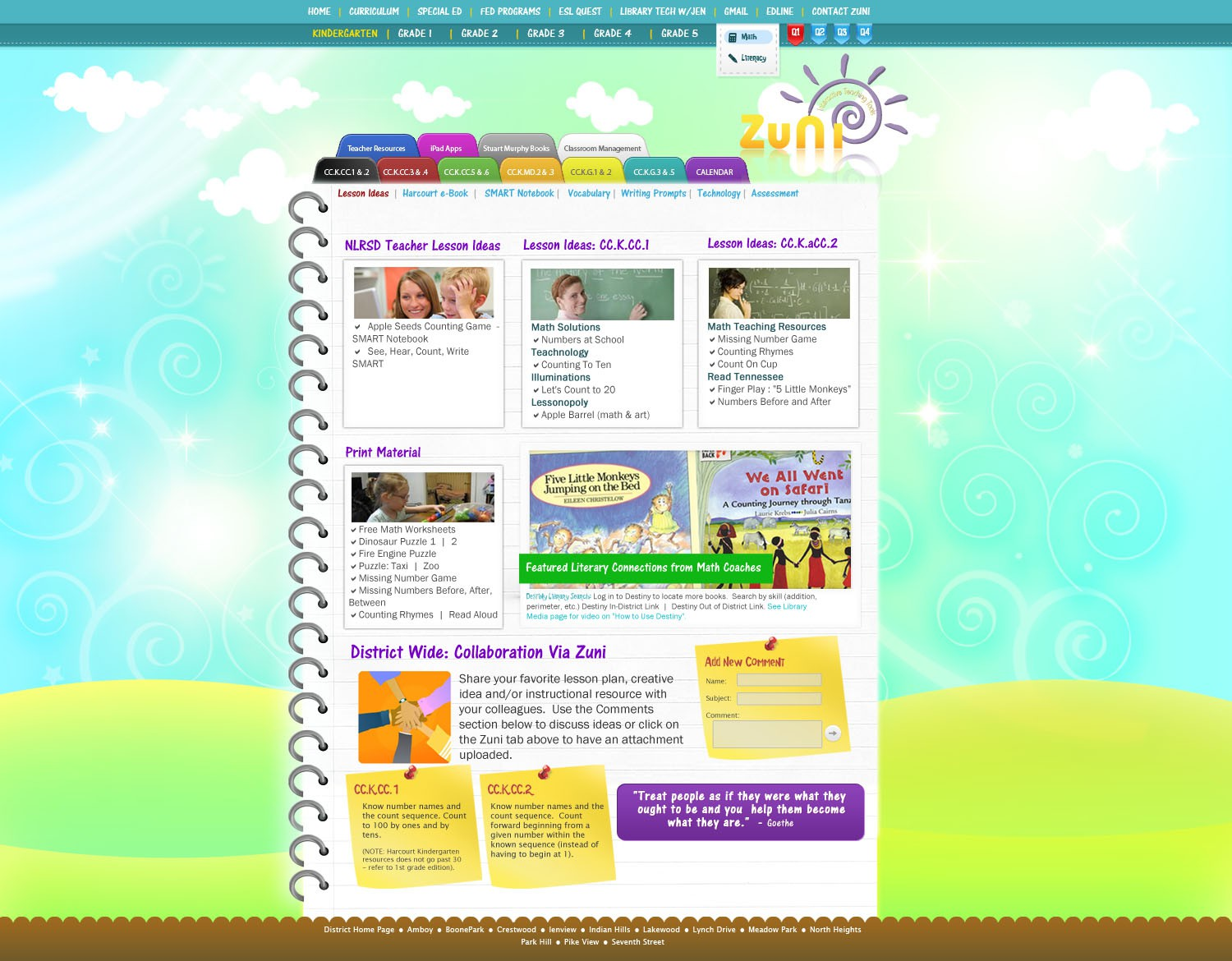 ZUNI Interactive Teaching Tools over 4000 pages