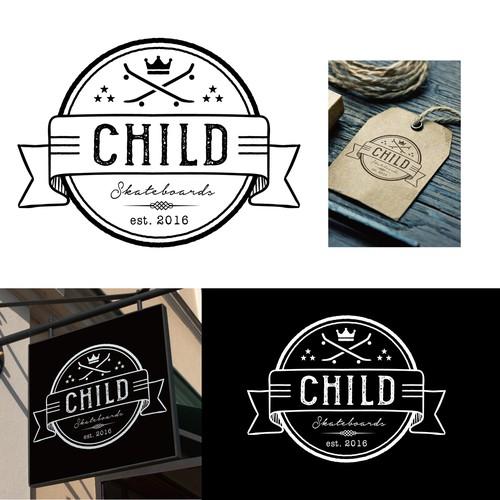 Logo design for a skateboarding shop