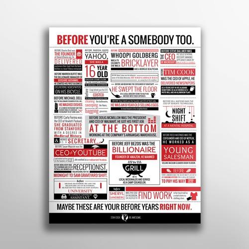 Bold typographic poster