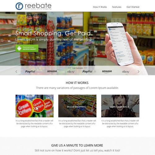 Rebate App Landing Page
