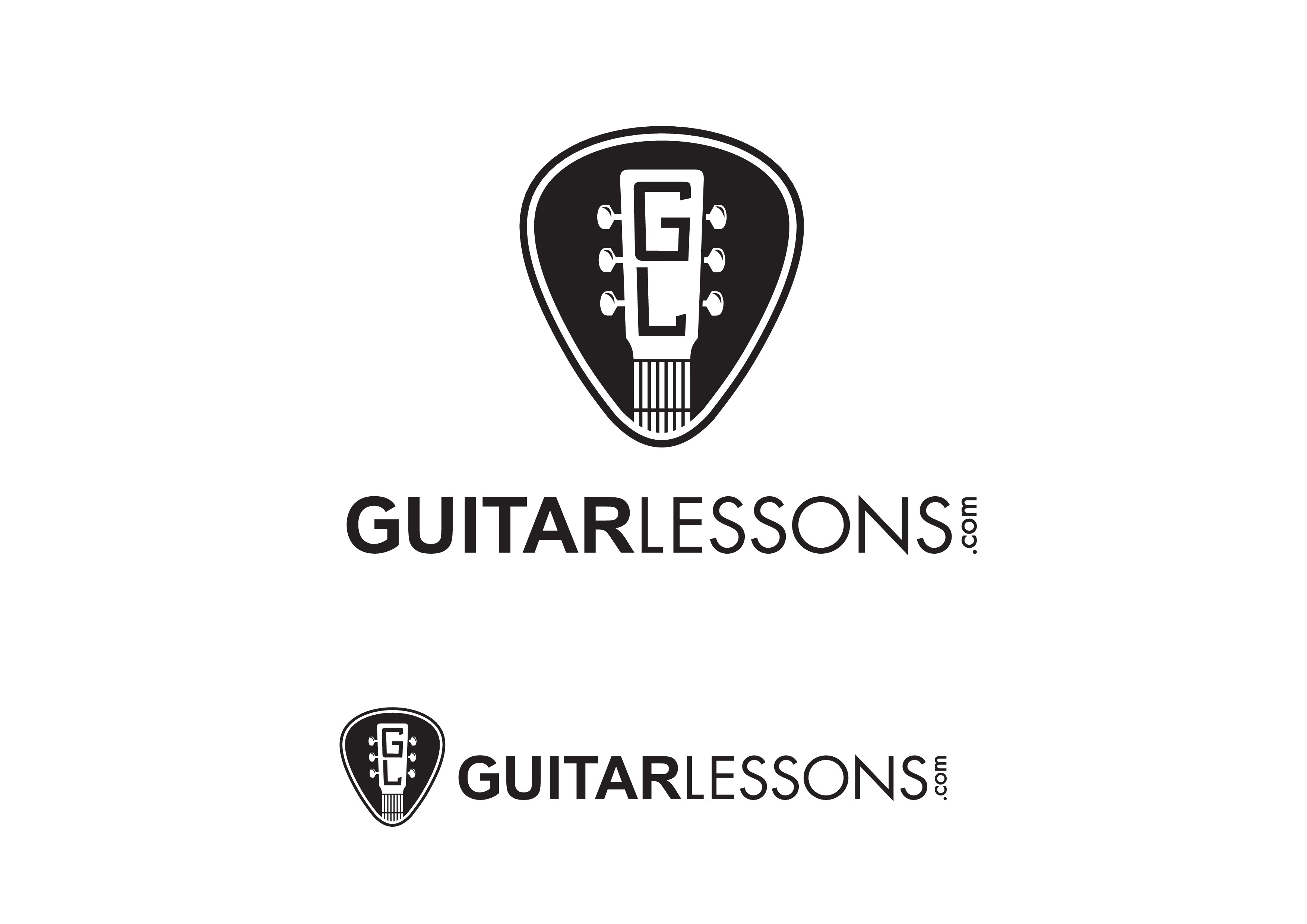 Create an inspiring logo for GuitarLessons.com students