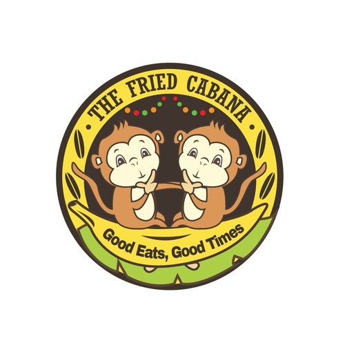 Fun Illustrated Logo for The Fried Cabana
