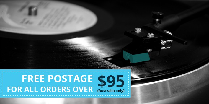 Create eye catching digital banners for online vinyl record retailer
