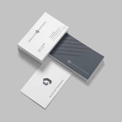 Rustic-modern logo concept for Bankside Partners