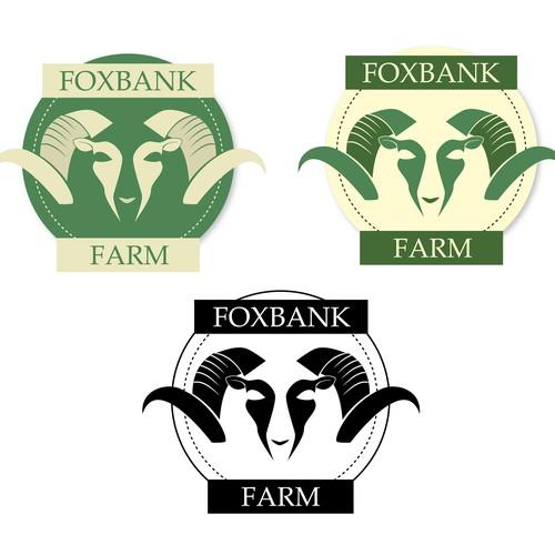 Logo concept for Foxbank Farm - a rare breed of sheep
