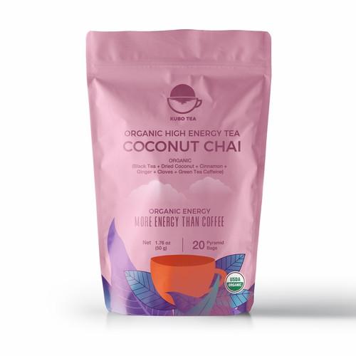 organic tea packaging design