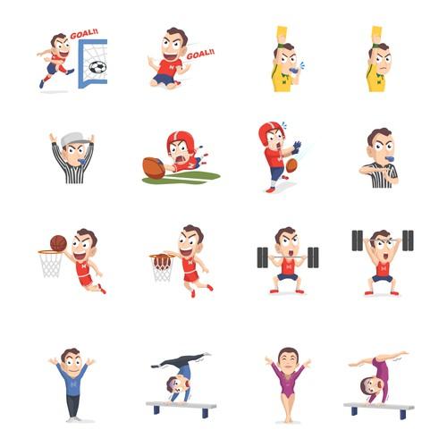 Sticker Sport iMessage for NanoStak
