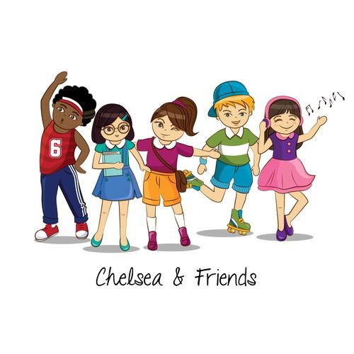 Chelsea & Friends Character Design