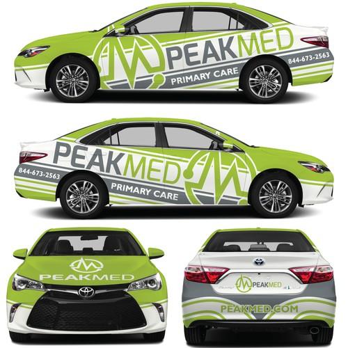 Peak Med Toyota Camry Car Wrap