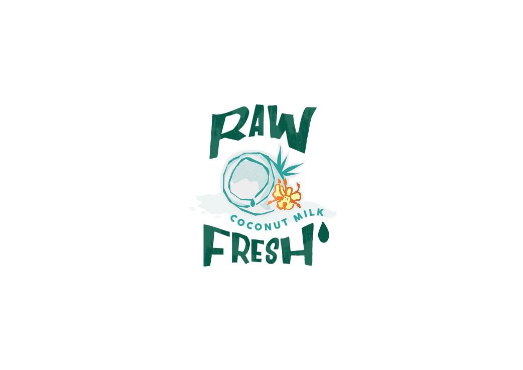 Raw Fresh Coconut Water Logo Design Contest
