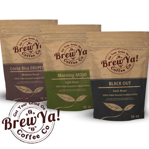 Brew Ya Coffee design entry