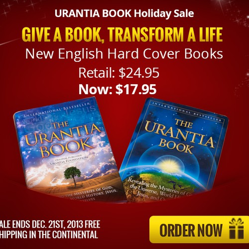 Create a holiday banner ad for The Urantia Book