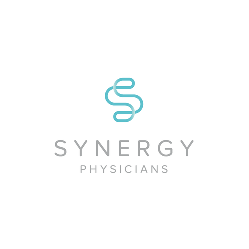 Simple and clean synergy logo.