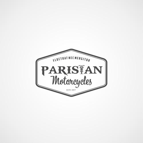 Classic Logo for Parisian Motorcylces