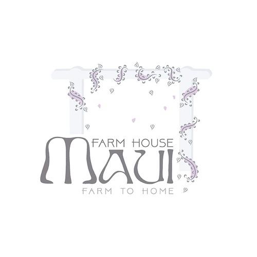 logo for farm house maui