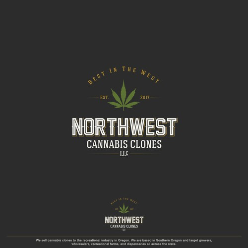 Typography logo for a cannabis clones industry