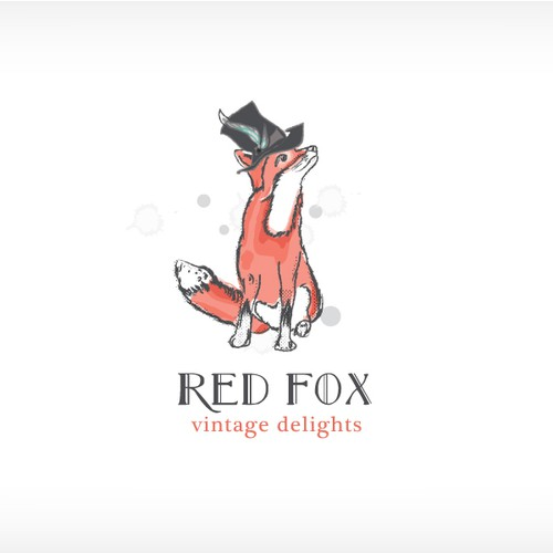Hand-Drawn Whimsical Fox Logo for Vintage Food Company