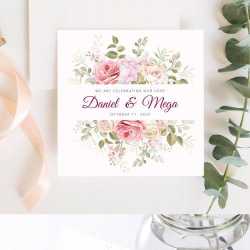 wedding floral frame