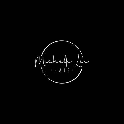 simple and elegant Logo for Michelle Lee Hair