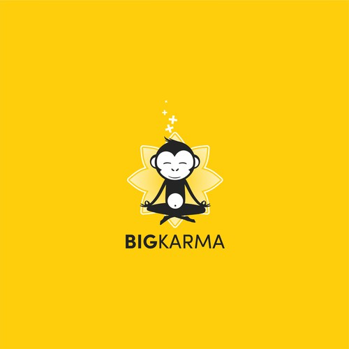 Design a modern, flat logo for BigKarma (Slack chat app)