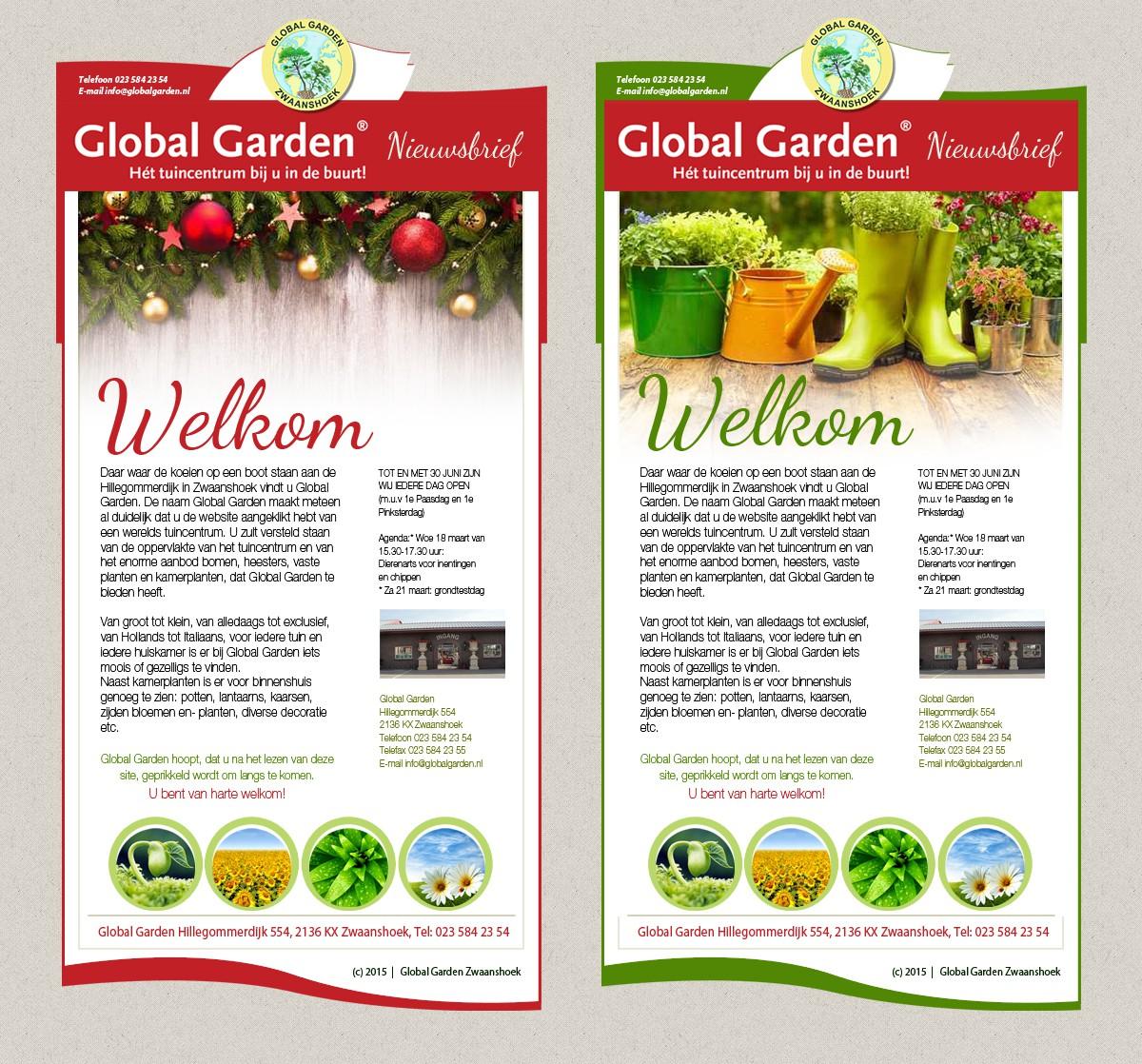 Global Garden newsletter redesign