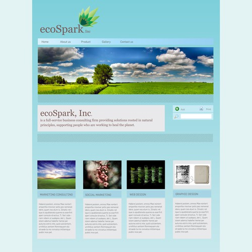 Eco-Conscious Design/Tech/Marketing Consulting Website